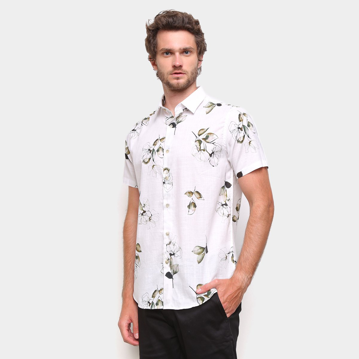 Camisa Acostamento Floral Masculina