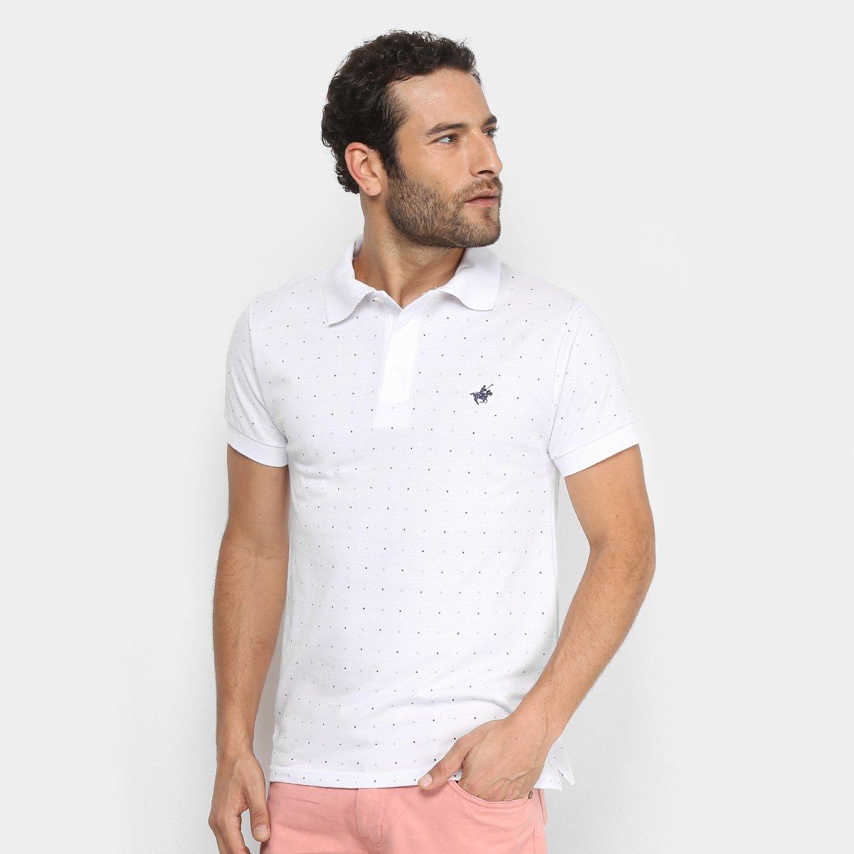 Camisa Polo Polo Up Estampada Poá Masculina. undefined 5e73f65cd8935