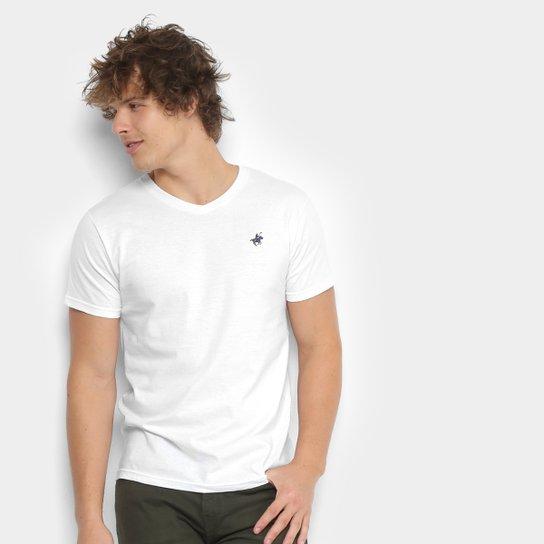 02efb64936 Camiseta Polo UP Gola V Masculina - Branco