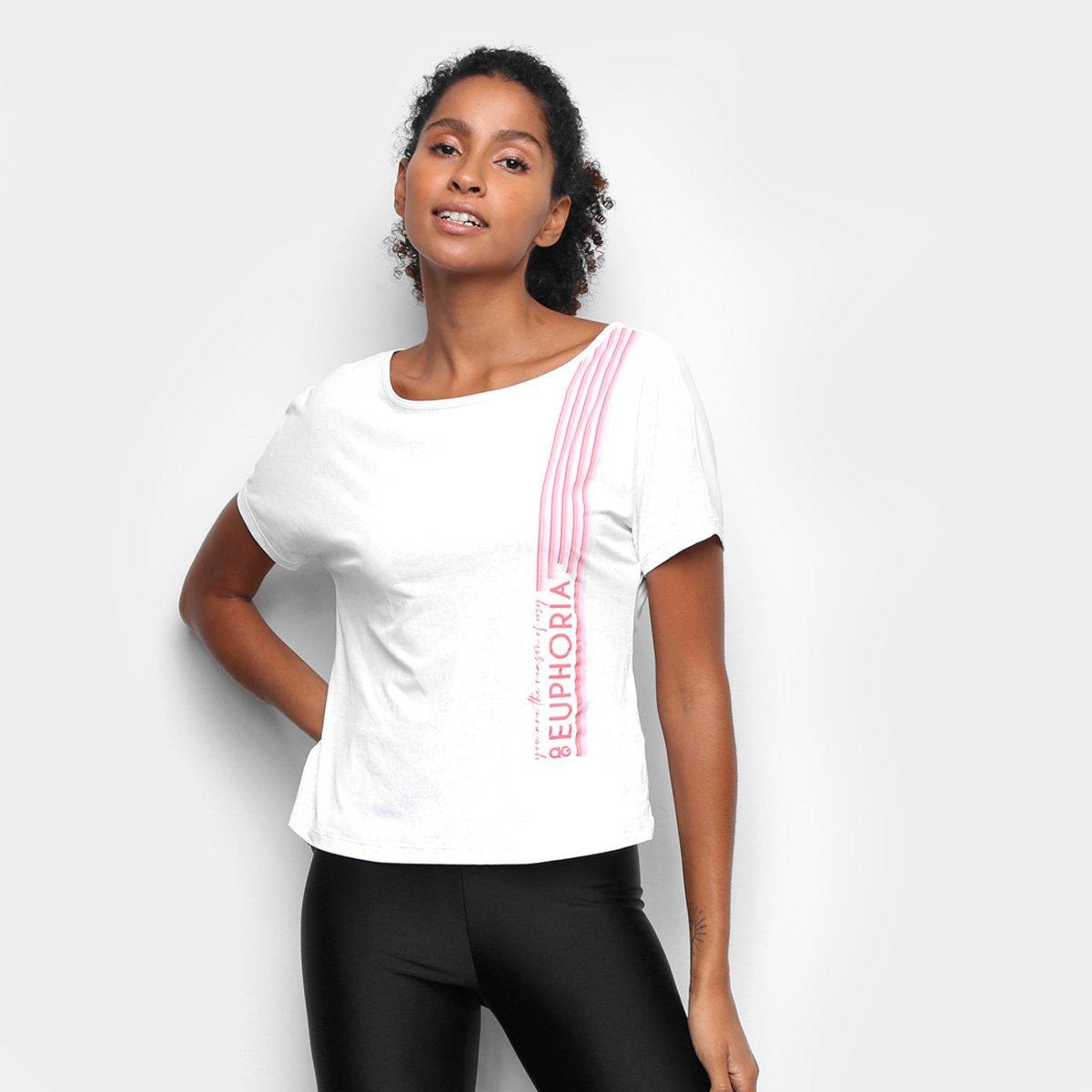 Camiseta Alto Giro Skin Fit Feminina