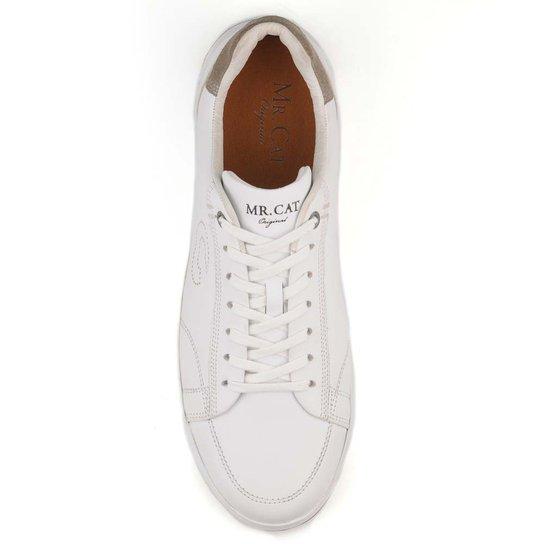 f791a733139 Tênis Couro Mr. Cat Sneaker Light Mouro Masculino - Branco - Compre ...