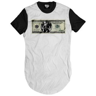 Camiseta longline Tupac Dollar Masculina 97c025d130