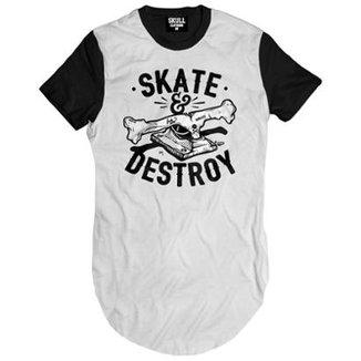 Camiseta longline Skate Destroy Masculina 859abeeb27