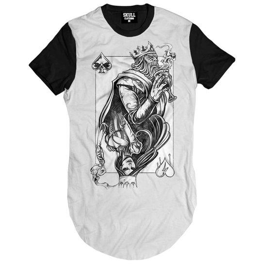 Camiseta Longline King and Queen Masculina - Branco - Compre Agora ... 6abcafe834b