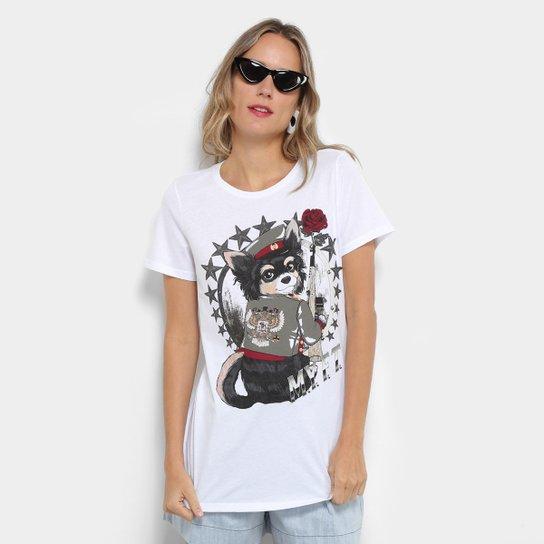 5c304d4cc8 Camiseta My Favorite Thing (s) Alongada Estampada Feminina - Branco ...