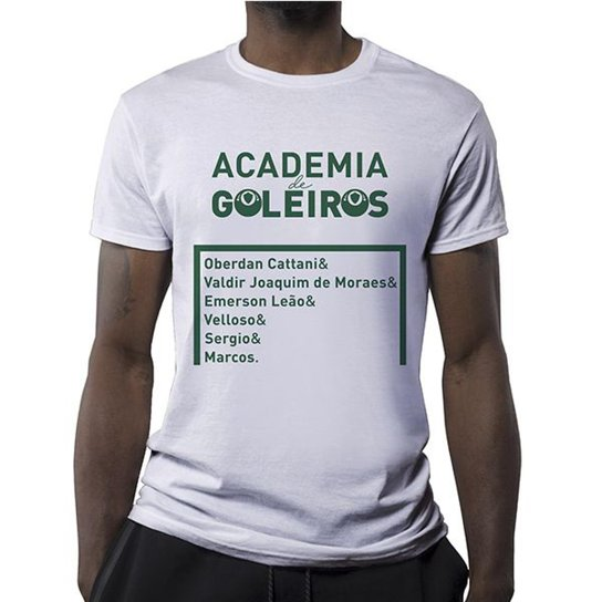 6047d3a956a9e Camiseta Academia De Goleiros Masculina - Branco - Compre Agora ...