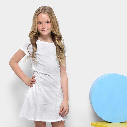 Vestido Infantil Dimy Candy com Franja de Alça
