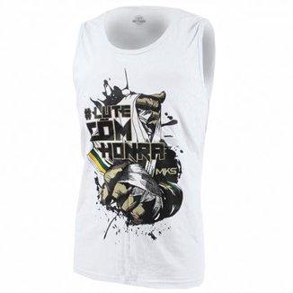 3c82386e3 Camiseta Regata MKS Combat  lutecomhonra