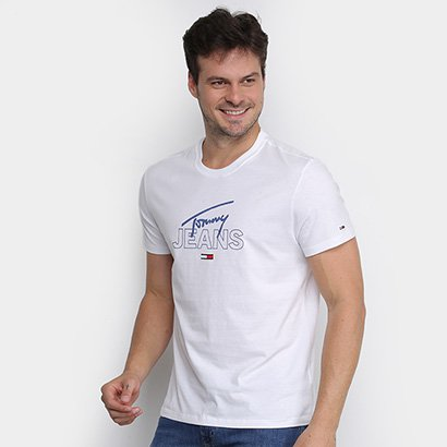 Camiseta Tommy Jeans Assinatura Masculina