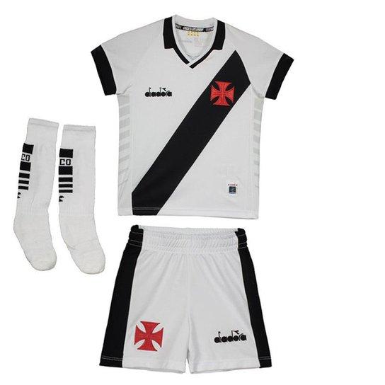6159d62bfa Kit de Uniforme Diadora Vasco II 2019 Infantil - Branco