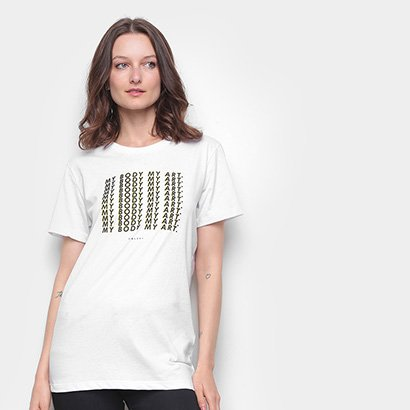 Camiseta Colcci Básica My Body My Art Feminina