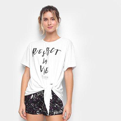 Camiseta Colcci Respect La Vie Feminina