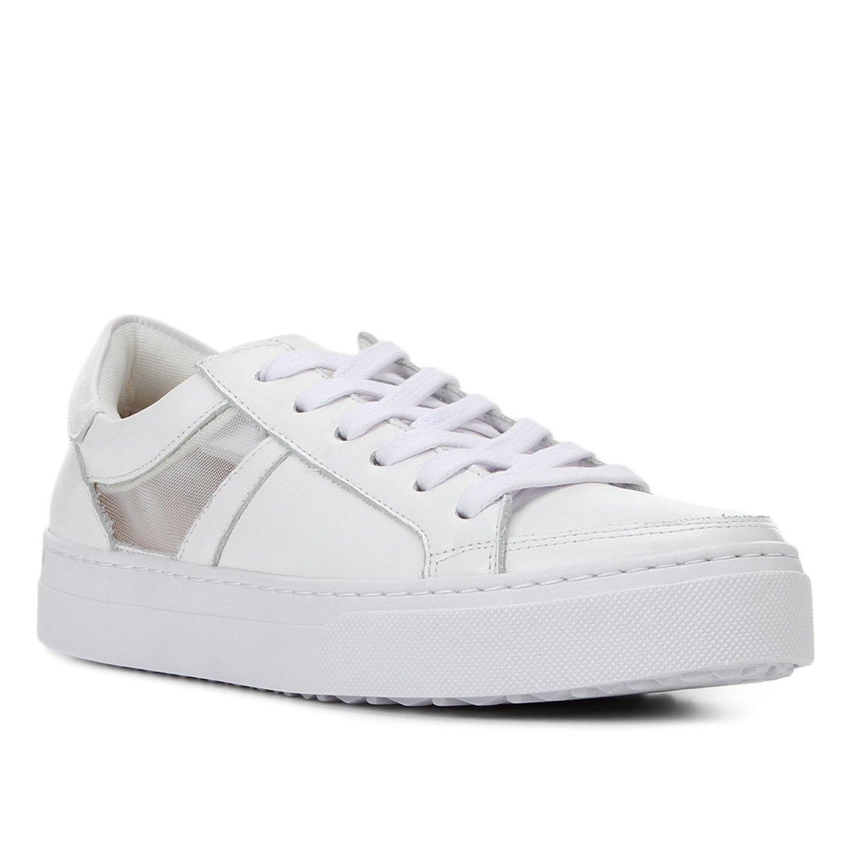 Tênis Couro Shoestock Tela Feminino