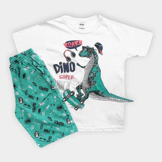 Conjunto Infantil Elian Camiseta e Bermuda Masculino - Compre Agora ... 691c1cdaca26b