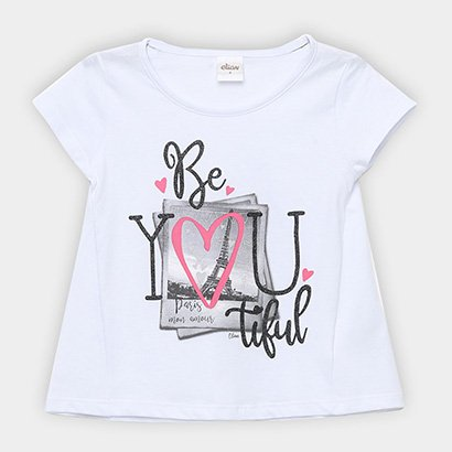 Blusa Infantil Elian Glitter Be You Tiful Feminina