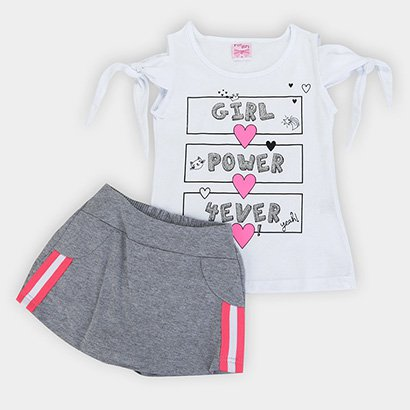 Conjunto Infantil For Girl Power 4 Ever Feminino