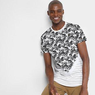 ea5916f286 Camiseta Overcore Caveiras Listras Masculina