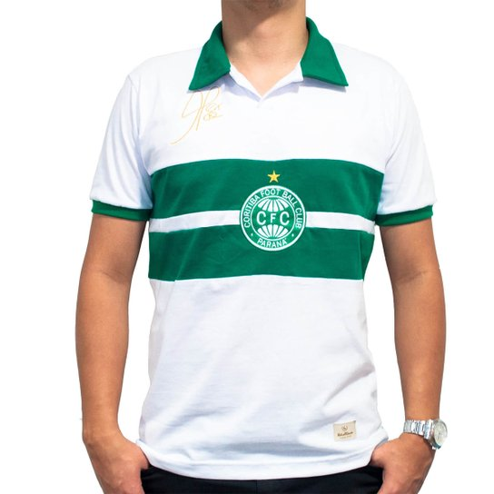 2d69e95cf Camisa Retrô Mania Coritiba 1995 - Alex Masculina - Branco+Verde