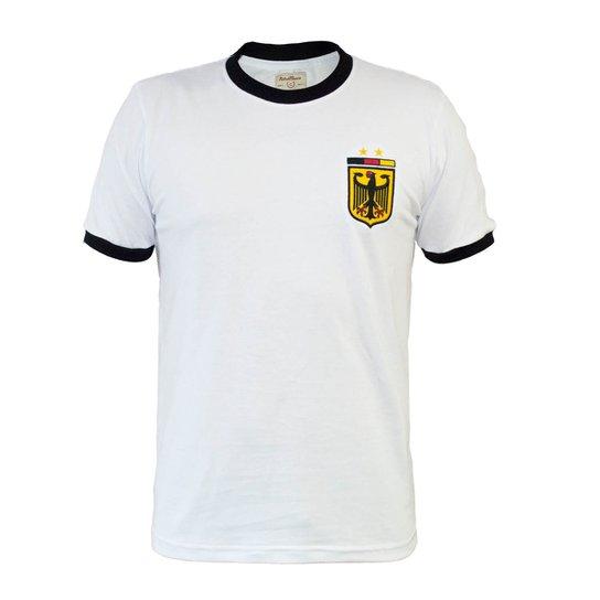 ce3177d149 Camisa Retrô Mania Alemanha II Masculina - Branco - Compre Agora ...