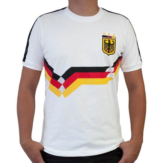 18c7627ba2 Camisa Retrô Mania Alemanha III Masculina - Branco - Compre Agora ...
