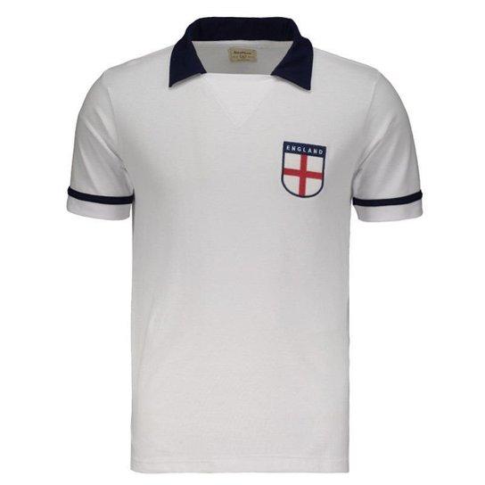 5082935edac92 Camisa Inglaterra Retrô 1990 Masculina - Branco - Compre Agora ...