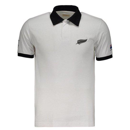 574201adbd Camisa All Blacks 1987 Rugby Retrô Masculina - Branco