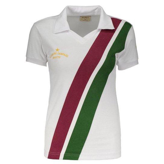 Camisa Fluminense Retrô 1908 Feminina - Branco - Compre Agora  960c1c1ae93e9