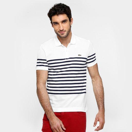 2628e42c967ea Camisas Polo Lacoste live Piquet listras finas - Compre Agora   Netshoes
