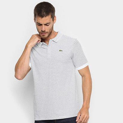 Camisa Polo Lacoste Live Malha Textura Masculina