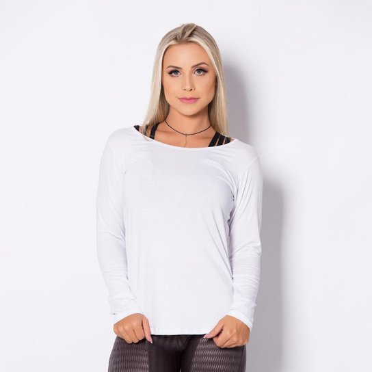 73781540d Blusa Honey Be Visco Feminina - Branco | Netshoes