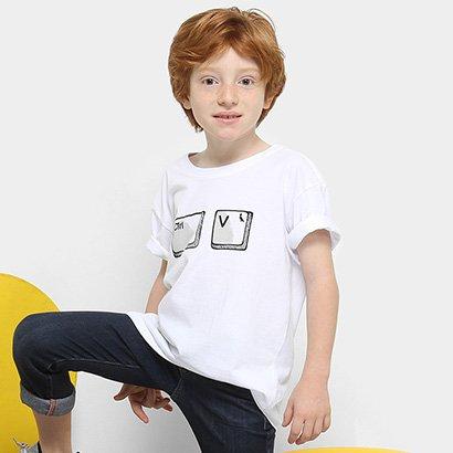 Camiseta Infantil Reserva Mini Pai e Filho CTRL V Masculina