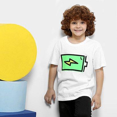 Camiseta Infantil Reserva Mini Pai e Filho Masculina