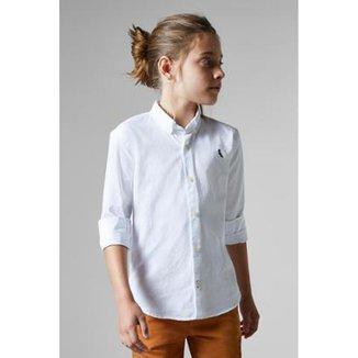 ab967746d5 Camisa Masculina Infantil Mini Cont Oxford Reserva Mini