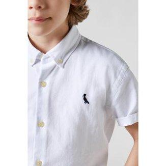 77930d4b09 Camisa Masculina Infantil Mini Oxford Mc Reserva Mini