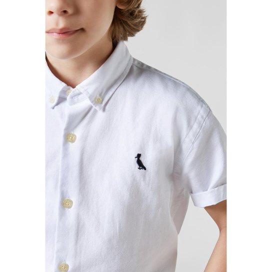 a0e26b8a23 Camisa Masculina Infantil Mini Oxford Mc Reserva Mini - Branco ...