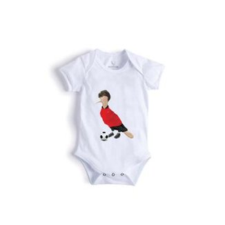 5437e79369 Body Bebê Reserva Mini Pica-Pau Jogador de Futebol Masculino