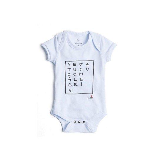 c666626f7f Body Bebê Reserva Mini Alegria Masculino - Branco - Compre Agora ...