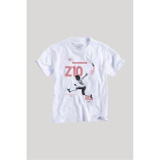 Camiseta Infantil Zico Z10 Reserva Mini Masculina 5b2572fafcdb3
