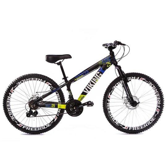 9418ebdfe9 Bicicleta Vikingx Tuff 25 Freeride Aro 26 Freio À Disco 21 Marchas -  Branco+Verde