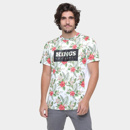 Camiseta Kings Oversized Costas Alongada Floral - Compre Agora ... 7025b315c5104