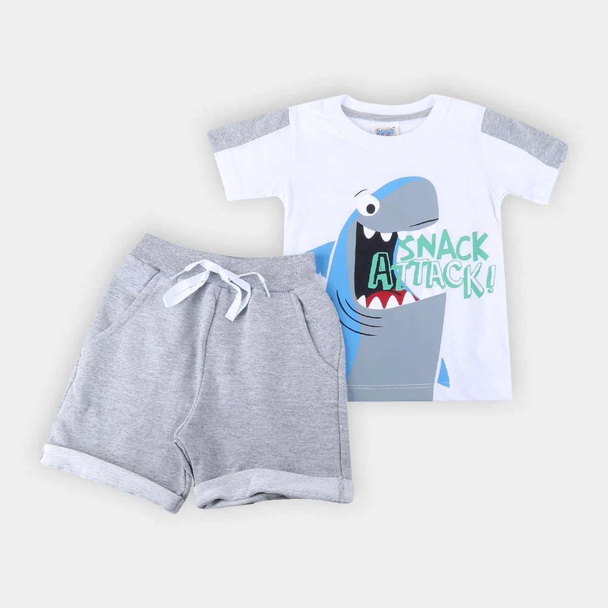 Conjunto Bebê Duzizo Shark Masculino