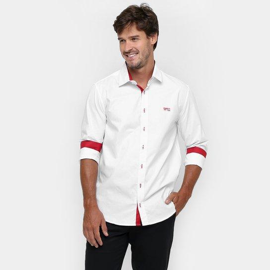 Camisa Social São Paulo Masculina - Compre Agora   Netshoes 007e547d48