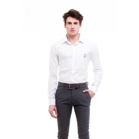 aa77a3a7a2e84 Camisa Social Hat Trick Coritiba - Branco - Compre Agora