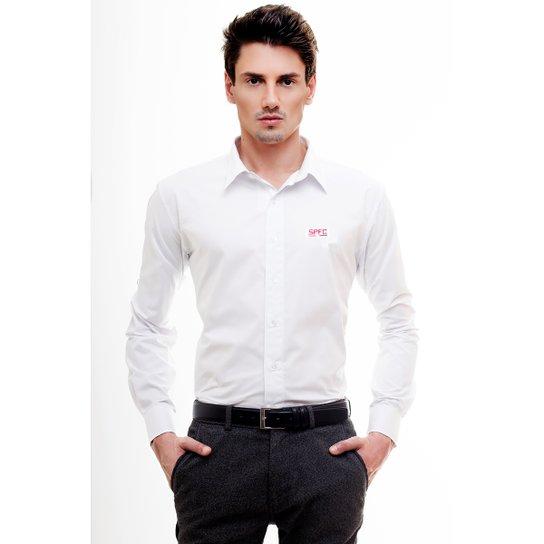 Camisa Social Hat Trick São Paulo - Branco - Compre Agora  0062a9122def3