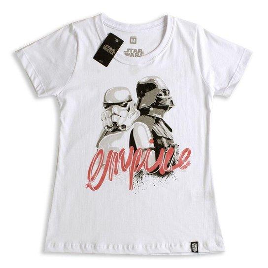 Camiseta Feminina Star Wars Empire - Branco - Compre Agora  c2c2da67f1f