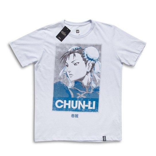 ceb970cfe2 Camiseta Street Fighter Chun-Li Poster - Branco - Compre Agora ...