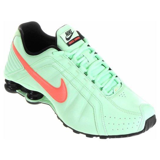 8516cc86bdf Tênis Nike Shox Junior - Verde Claro+Laranja