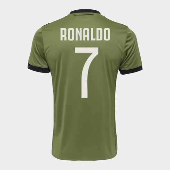 c802b24312 Camisa Juventus Third 17/18 nº 7 Ronaldo - Torcedor Adidas Masculina -  Verde Militar