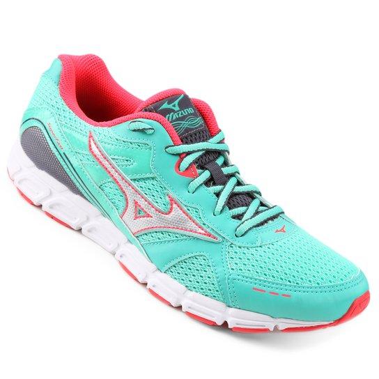 Tênis Mizuno Superfast Feminino - Verde e Rosa - Compre Agora  44896ffc34cc9