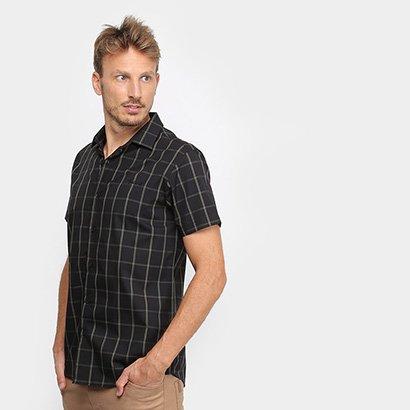 Camisa Xadrez Acostamento Manga Curta Masculina